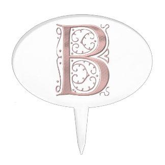 Letra de lujo B 1 Figura Para Tarta