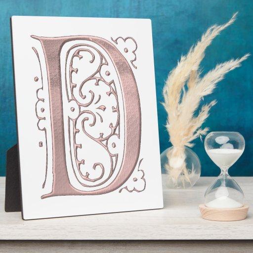 Letra de lujo D 1 Placas De Plastico