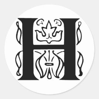 Letra de lujo H Etiquetas