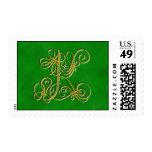 Letra de lujo K del monograma - modificada para Timbre Postal