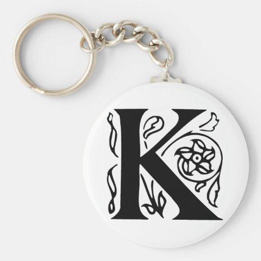 Letra de lujo K Llaveros Personalizados