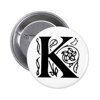 Letra de lujo K Pin Redondo 5 Cm