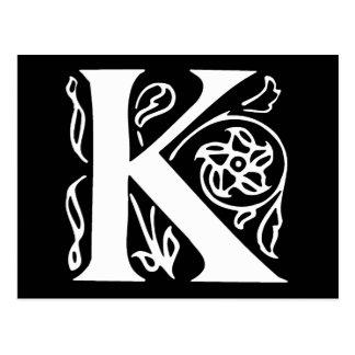 Letra de lujo K Postal