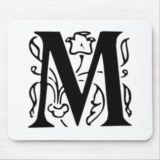 Letra de lujo M Tapete De Ratón