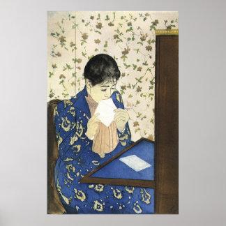 Letra de Mary Cassatt arte del impresionismo del Impresiones