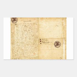 Letra de Michel de Montaigne 1585 Rectangular Altavoz