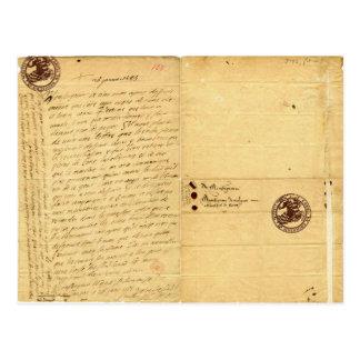 Letra de Michel de Montaigne 1585 Tarjetas Postales