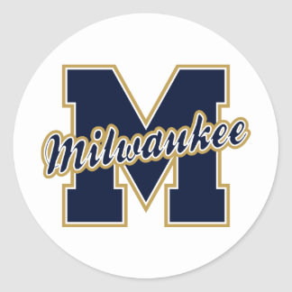 Letra de Milwaukee Etiqueta Redonda