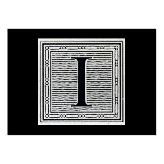 """Letra de molde """"yo"""" inicial de Woodblock del graba Tarjetas Personales"""