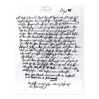 Letra de Mozart a su padre, el 5 de abril Postal