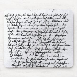 Letra de Mozart a su padre el 5 de abril Tapetes De Ratones
