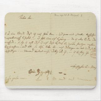 Letra de Mozart a un freemason enero de 1786 Alfombrilla De Ratones