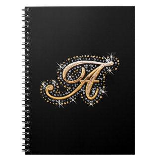 Letra de oro A - cuaderno