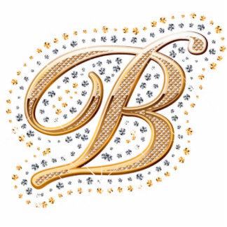 Letra de oro B - imán Esculturas Fotográficas
