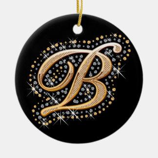 Letra de oro B - ornamento Adorno