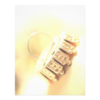 Letra de oro del navidad del ornamento plantillas de membrete