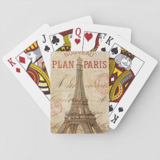 Letra de París Baraja De Póquer