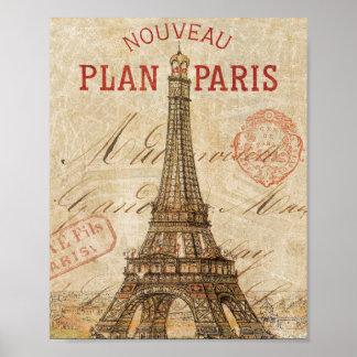 Letra de París Poster