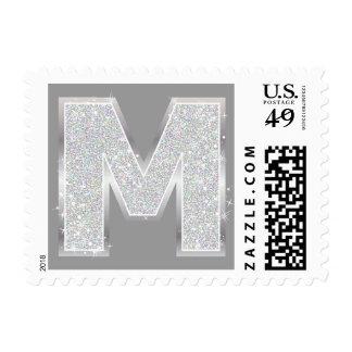 Letra de plata M Sellos