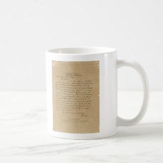 Letra de presidente Abraham Lincoln a señora Bixby Tazas