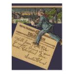 Letra de Santa del vintage Postal