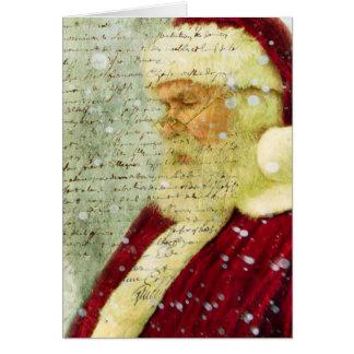 Letra de Santas Tarjeta De Felicitación