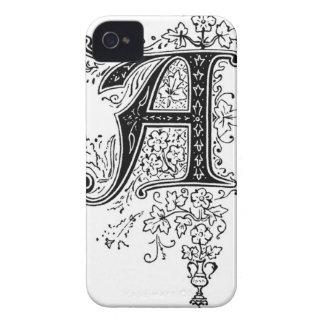Letra decorativa un caso iPhone 4 fundas