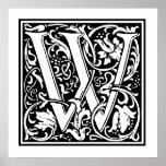 Letra decorativa W