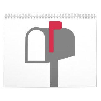 Letra del buzón calendario