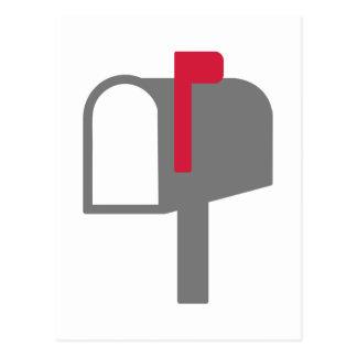 Letra del buzón tarjeta postal