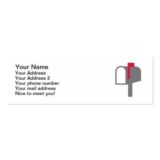 Letra del buzón tarjetas de visita mini