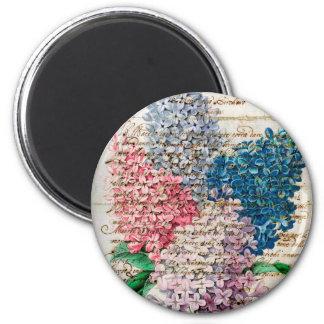 Letra del collage de la lila imán redondo 5 cm