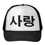 Letra del coreano del amor gorras