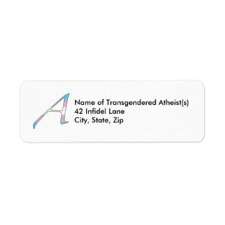 Letra del escarlata del orgullo del transexual e etiqueta de remite