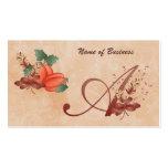 Letra del monograma de la acción de gracias una ta plantilla de tarjeta personal