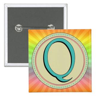 LETRA DEL MONOGRAMA DE Q PINS