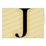 Letra del monograma - J (naranja) Felicitaciones