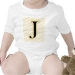 Letra del monograma - J (naranja) Trajes De Bebé