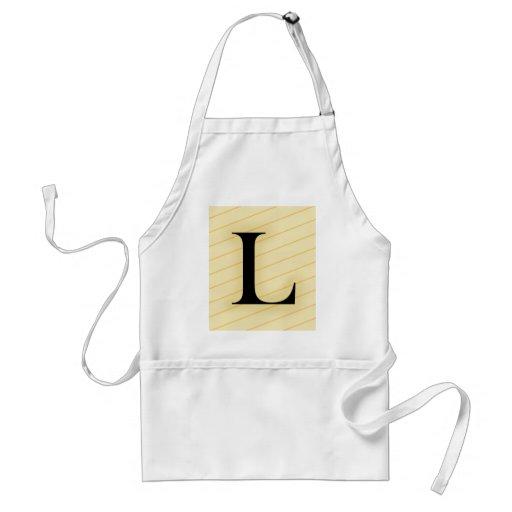 Letra del monograma - L (naranja) Delantal