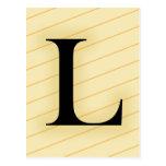 Letra del monograma - L (naranja) Postales