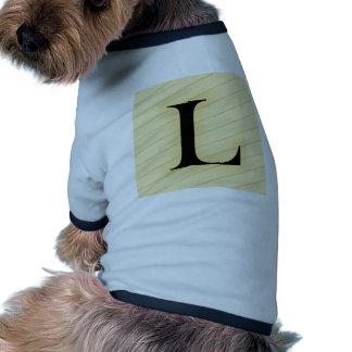 Letra del monograma - L (naranja) Camiseta De Mascota