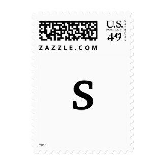 Letra del monograma franqueo