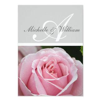 Letra del monograma una invitación del boda
