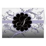 Letra del monograma una violeta tarjetas