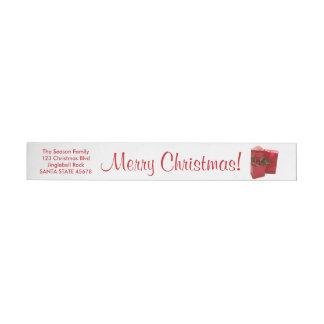 Letra del navidad de Santa Etiquetas Envolventes De Dirección
