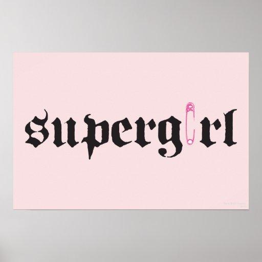 Letra del Pin de seguridad de Supergirl Poster