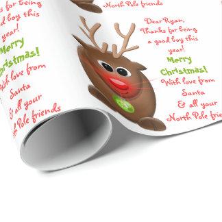 Letra del reno de Navidad del navidad de Santa