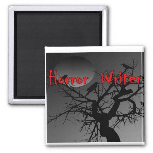 Letra del rojo del escritor del horror iman de frigorífico