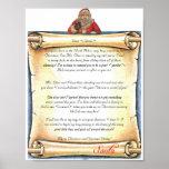 Letra del vintage de Santa Posters
