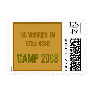 Letra demasiado fresca del sello del campamento de